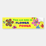 Flower Power Art, Colourful Bumper Sticker