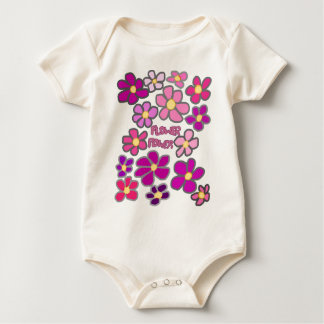 Flower power baby bodysuit