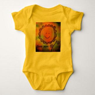 flower power baby vest baby bodysuit
