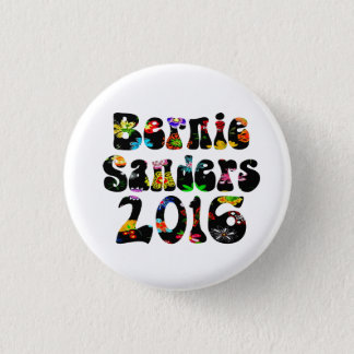 Flower Power Bernie Sanders 2016 3 Cm Round Badge