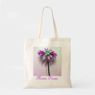 Flower Power Budget Tote Bag