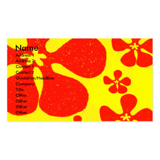 Flower Power Pack Of Standard Business Cards