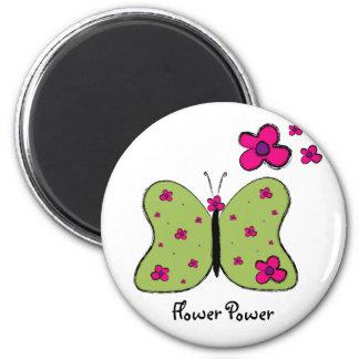 Flower Power Butterfly magnet