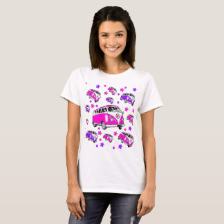 Flower Power Camper Van T-Shirt