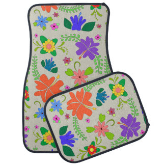 Flower Power Car Mat