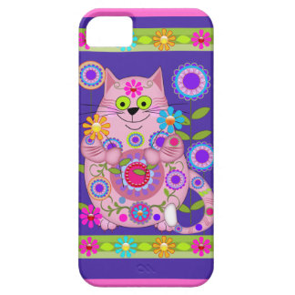Flower Power Cat Barely There iPhone 5 Case