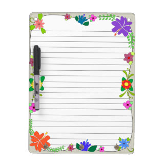 Flower Power Dry Erase Board