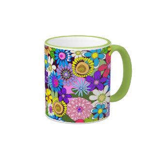 Flower Power floral Illustration mug