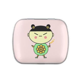 Flower Power Girl Candy Tin