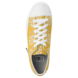 Flower power Golden Shoes Printed Shoes