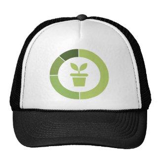 Flower power mesh hats