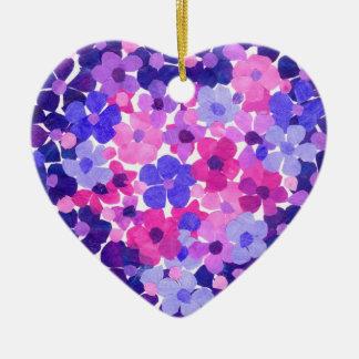 Flower Power Heart-shaped Ornament