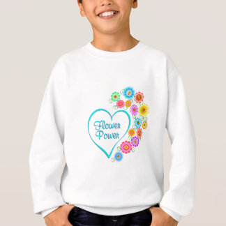 Flower Power Heart Sweatshirt