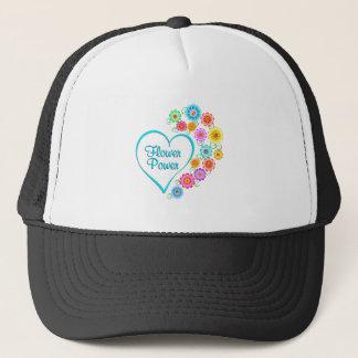 Flower Power Heart Trucker Hat