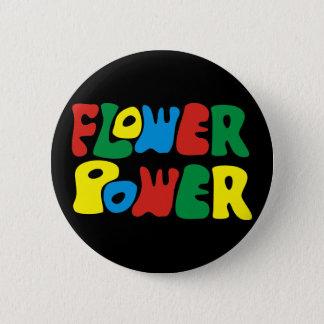 Flower power hippie 6 cm round badge