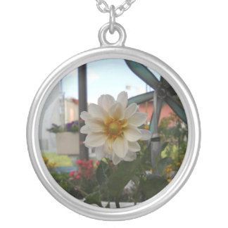 Flower Power Hippy baby! Round Pendant Necklace