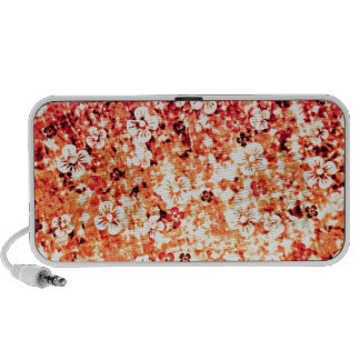 Flower Power in Orange, Floral Colorful Ombre Art Portable Speakers