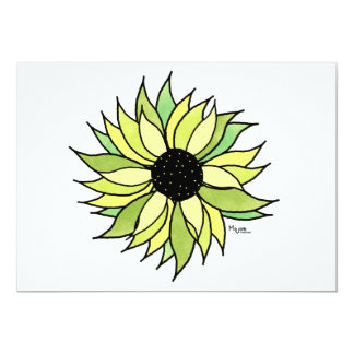Flower Power Invitation Card