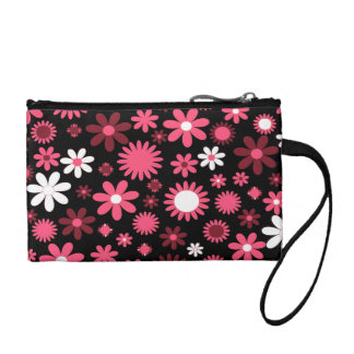 Flower Power Key Coin Clutch Coin Purse