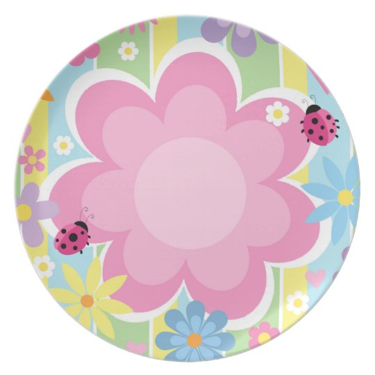 Flower Power Melamine Plate