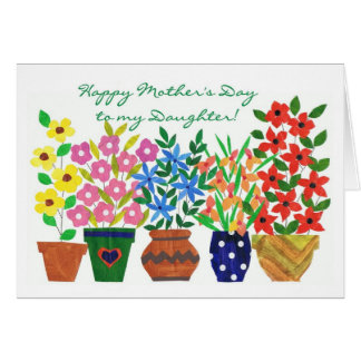 Flower Power Mother's Day Card for a Daughter