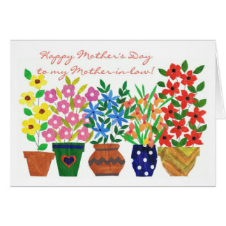 Flower Power Mother's Day Card for a Mother-in-law