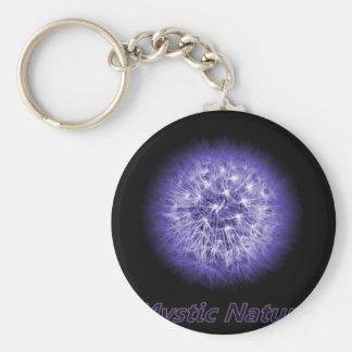 Flower-Power Mystic Nature Basic Round Button Key Ring