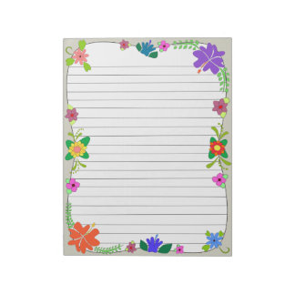 Flower Power Notepad