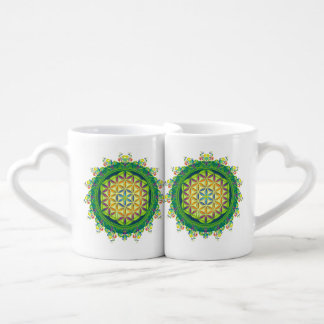 Flower Power of Life / Blume des Lebens Lovers Mugs