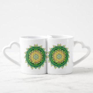 Flower Power of Life / Blume des Lebens Lovers Mugs