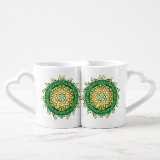 Flower Power of Life / Blume des Lebens Lovers Mug
