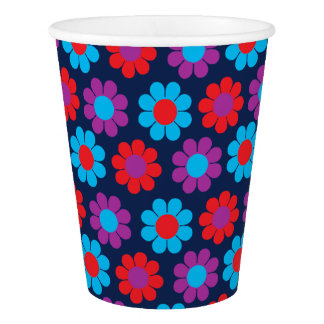 Flower Power Paper Cup