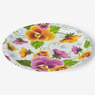 Flower Power Paper Plate