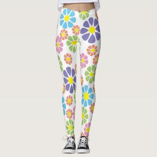 Flower power pattern leggings