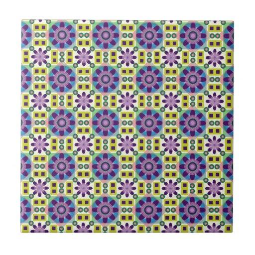 Flower Power Pattern Tile