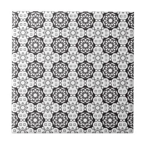 Flower Power Pattern Ceramic Tile