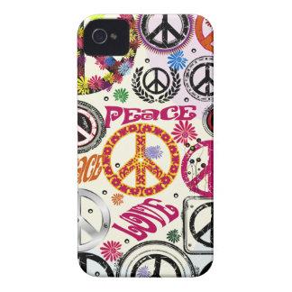 Flower Power Peace & Love Hippie Blackberry Case