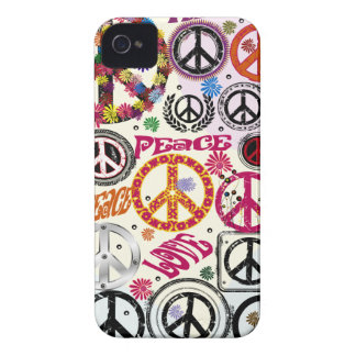 Flower Power Peace & Love Hippie iPhone 4 Case