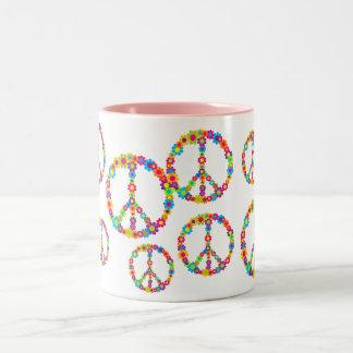 Flower Power Peace Coffee Mugs