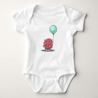 Flower power Pink monster Baby Bodysuit