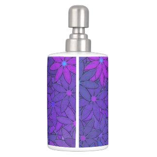 Flower Power -  Purple Flowers Toothbrush Holder
