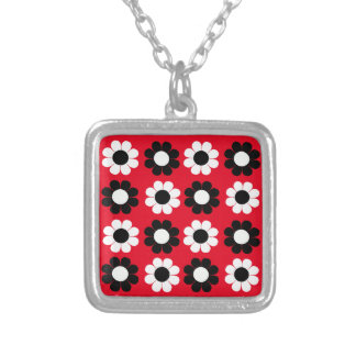 Flower Power Silver Plated Necklace