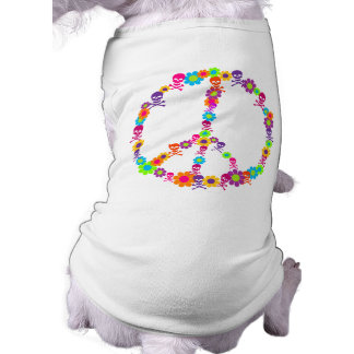 Flower Power Skully Peace Shirt