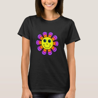 Flower Power Smiley Face T-Shirt
