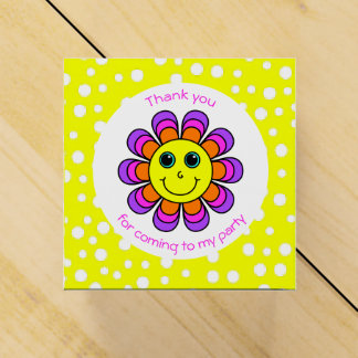 Flower Power Smiley Face Thank You Party Favour Box