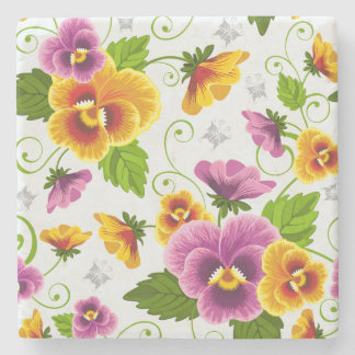 Flower Power Stone Coaster
