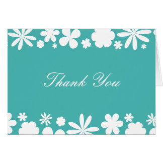 Flower Power Thank You Note Card