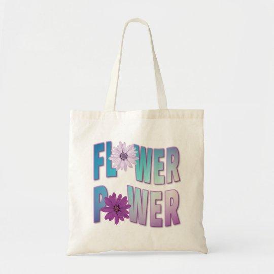 Flower Power Tote - Blue & Purple Design