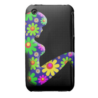 Flower Power Trucker Girl iPhone 3 Case-Mate Case