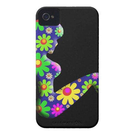 Flower Power Trucker Girl iPhone 4 Cases